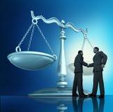 Acordo de contrato ilustração royalty free