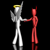Acordo do anjo e do diabo Imagens de Stock