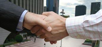 Acordo financeiro global Imagem de Stock Royalty Free