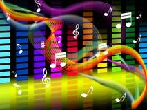 Acordo Jazz Or Classical das mostras do fundo da música ilustração do vetor