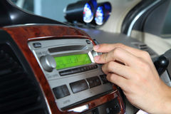 acordo no áudio do carro Imagens de Stock