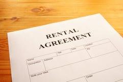Acordo Rental Fotografia de Stock Royalty Free