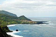 Acores; flores island, panorama of faja grande Stock Photo