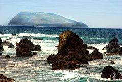 Acores; Flores, View To Corvo Stock Photography