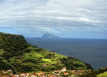 Acores; flores, view to corvo Stock Image