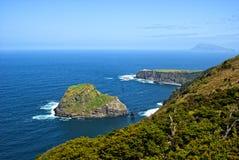 Acores; Nordküste von flores Insel Stockfotos