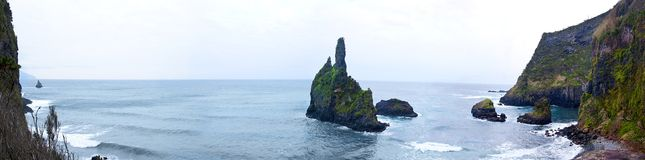 Acores; panorama of east coast of flores Royalty Free Stock Image