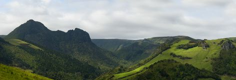 Acores; panorama of flores island, east coast Stock Images