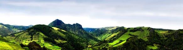 Acores; Panorama von flores Insel, Ostküste Stockfotos