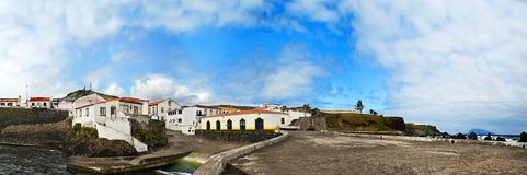 Acores; port of santa cruz das flores Royalty Free Stock Photo