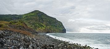 Acores; west coast of flores island Stock Photo