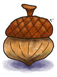 Acorn. Isolated cartoon illustration of an acorn Royalty Free Stock Photo