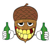 Acorn cartoon character Stock Images