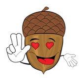 Acorn cartoon character Royalty Free Stock Photography