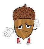 Acorn cartoon character Royalty Free Stock Photos