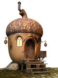 Acorn fairy cottage. 3D render of an acorn fairy cottage Stock Images