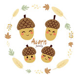 Acorn Family Characters Stock Images