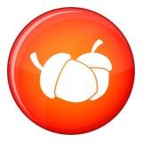 Acorn icon, flat style Royalty Free Stock Image