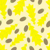 Acorn and oak leaf pattern Stock Photos