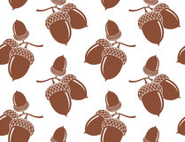 Acorn. Pattern. Vector illustration EPS Stock Photography