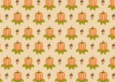 Acorn and pumpkin  pattern Royalty Free Stock Photos