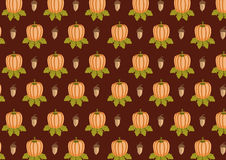 Acorn and pumpkin pattern Stock Image