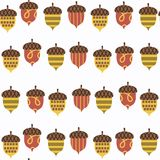 Acorn seamless pattern. It is located in swatch menu,  ima Royalty Free Stock Photos