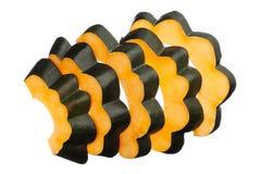 Acorn squash slices isolated on white Royalty Free Stock Images