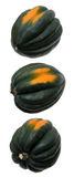 An acorn squash with three different views Stock Photo