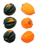 An acorn squash with three different views Royalty Free Stock Photography