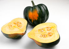 Acorn squash on white Royalty Free Stock Photography