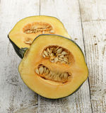 Acorn Squash. On A Wooden Board Royalty Free Stock Images