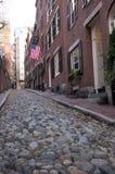 Acorn St, Boston Zdjęcia Stock