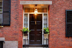 Acorn street Beacon Hill cobblestone Boston Royalty Free Stock Photos