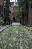 Acorn Street, Beacon Hill, Massachusetts USA Royalty Free Stock Images
