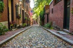 Acorn Street, Boston stock photo