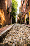 Acorn Street in Boston in Massachusettes Royalty Free Stock Image