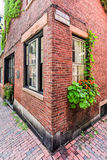 Acorn Street - Boston, Massachusetts. Acorn Street in Boston, Massachusetts. It is a narrow lane paved with cobblestones that was home to coachmen employed by Royalty Free Stock Photos