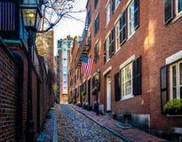 Acorn Street - Boston, Massachusetts, USA. Acorn Street in Boston, Massachusetts, USA royalty free stock image