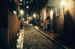 Acorn Street Fall 1987 Royalty Free Stock Photos