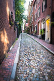Acorn street. Famous landmark and sightseeing place, oldest stre Royalty Free Stock Photography