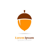 Acorn vector logo. Isolated on white background Royalty Free Stock Photo