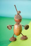 Acorns figure Stock Photos