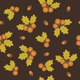 Acorns seamless pattern Royalty Free Stock Photo