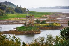 Acosador del castillo - ruinas, Escocia imagen de archivo libre de regalías