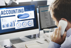 Acounting Auditing Balance Bookkeeping Capital Concept Royalty Free Stock Photography