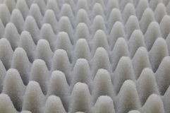 Acoustic. Foam used for Acoustic Technology, de noising sound, Background Royalty Free Stock Photography