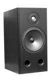 Acoustic. Black&white hi-fi woofer isolated on white background Royalty Free Stock Photography