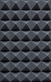 Acoustic absorbing foam for studio recording. Pyramid shape. Grey color Royalty Free Stock Photos