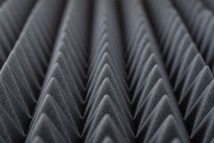Acoustic absorbing foam for studio recording. Pyramid shape. Grey color Stock Image